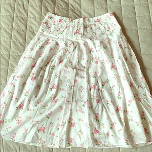 J. Crew white floral skirt perfect for Easter